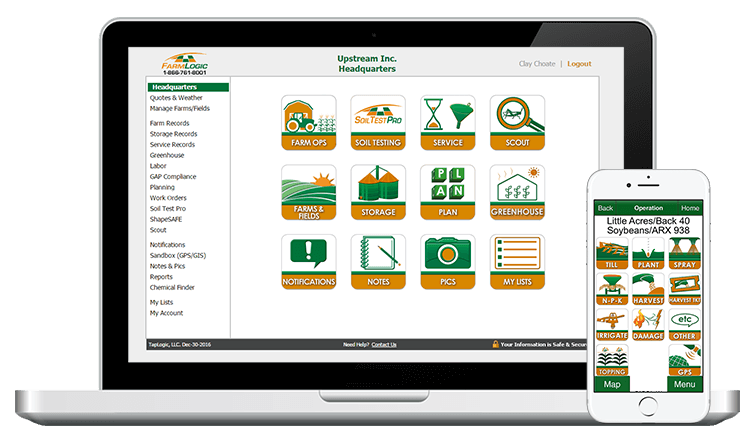 FarmLogic GAP System available on your Web and Mobile devices